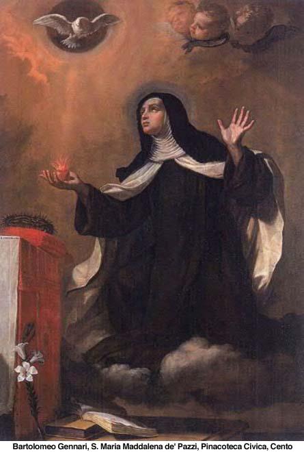 25 maggio: Santa Maria Maddalena de' Pazzi, vergine