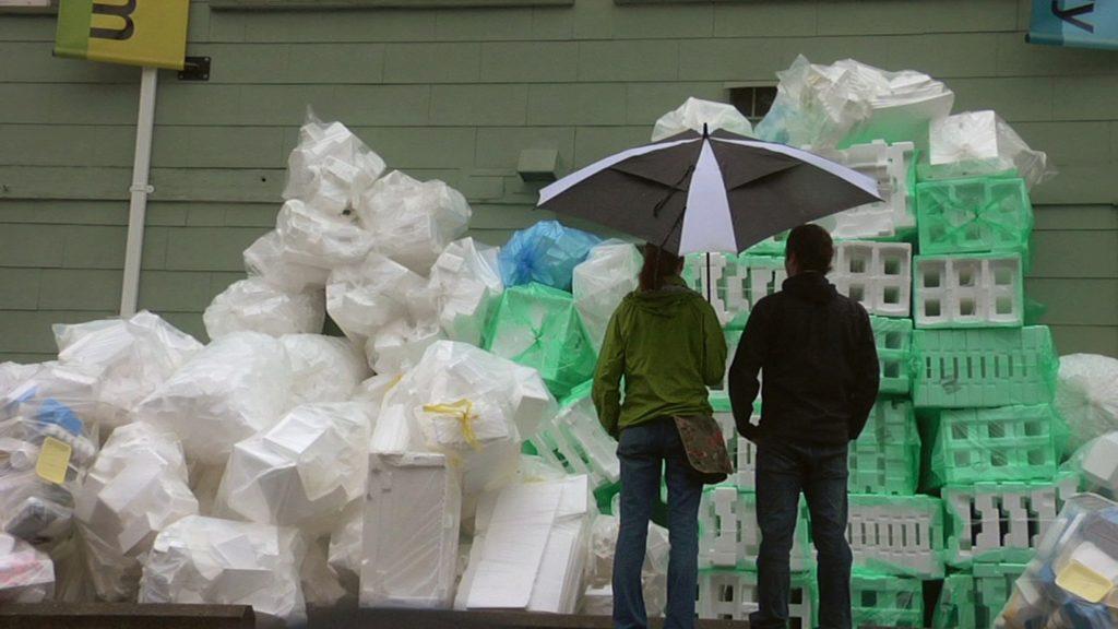 Styrofoam Pile - Jen and Grant