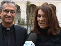 Mons Dario Viganò Elena Sofia Ricci