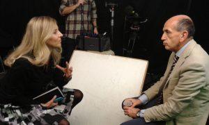 Domenico Quirico  durante l'intervista