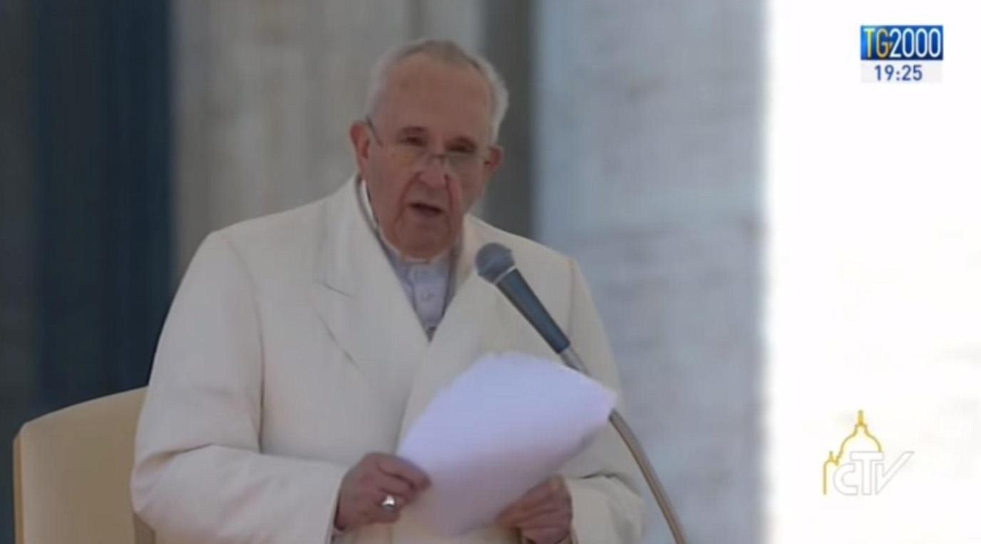 Papa Francesco incontra il popolo di Comunione e Liberazione