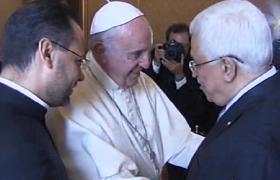 """Papa Francesco ad Abu Mazen: """"Devi essere un angelo della pace"""""""
