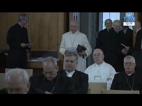Esercizi spirituali ad Ariccia per Papa Francesco e la Curia romana