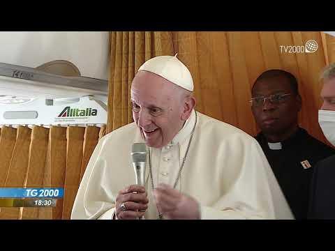 Papa rientra a Roma dopo il viaggio in Slovacchia. Le sue parole sul volo di ritorno
