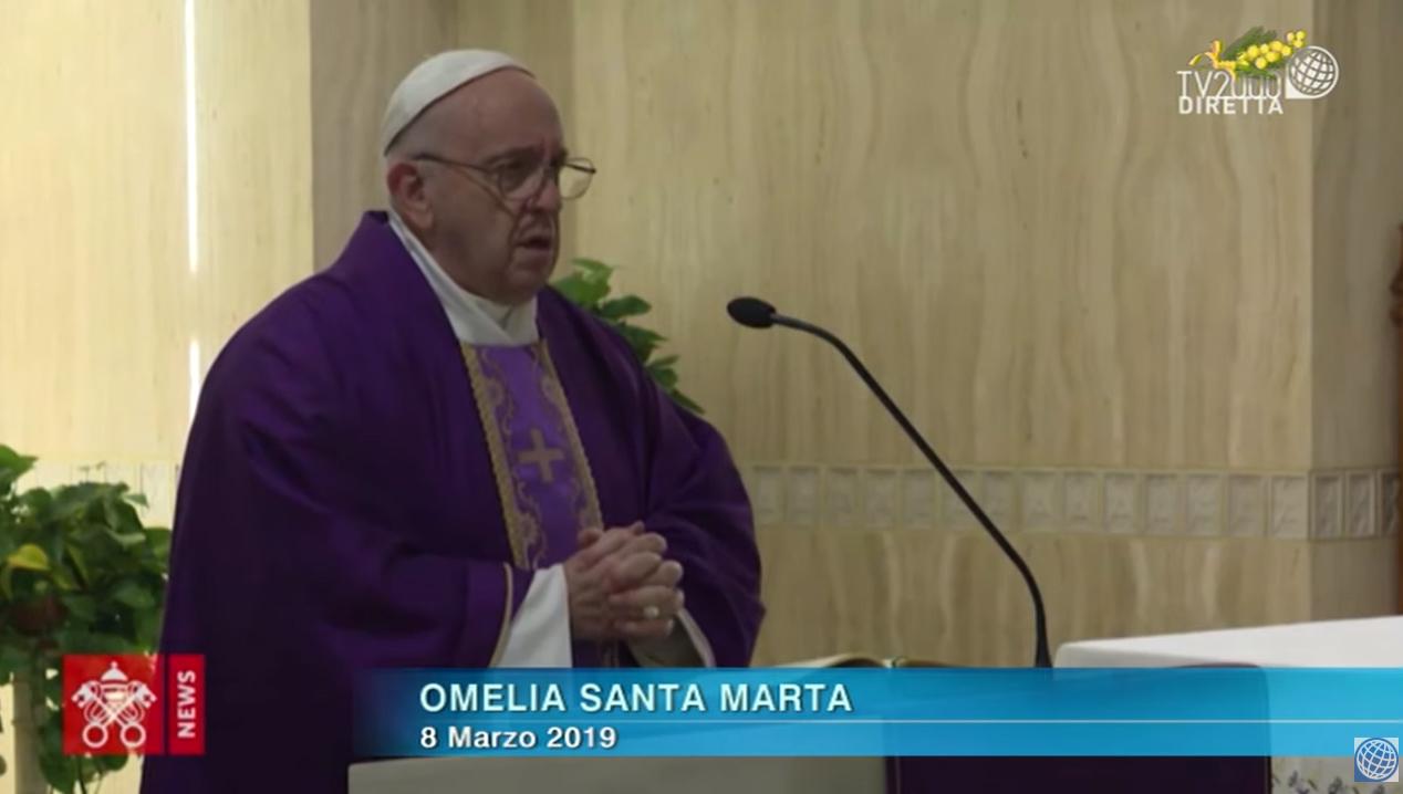 Papa Francesco, Omelia a Santa Marta dell'8 marzo 2019