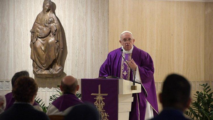 """Papa Francesco, omelia a Santa Marta del 4 aprile 2019: """"Il coraggio della preghiera"""""""