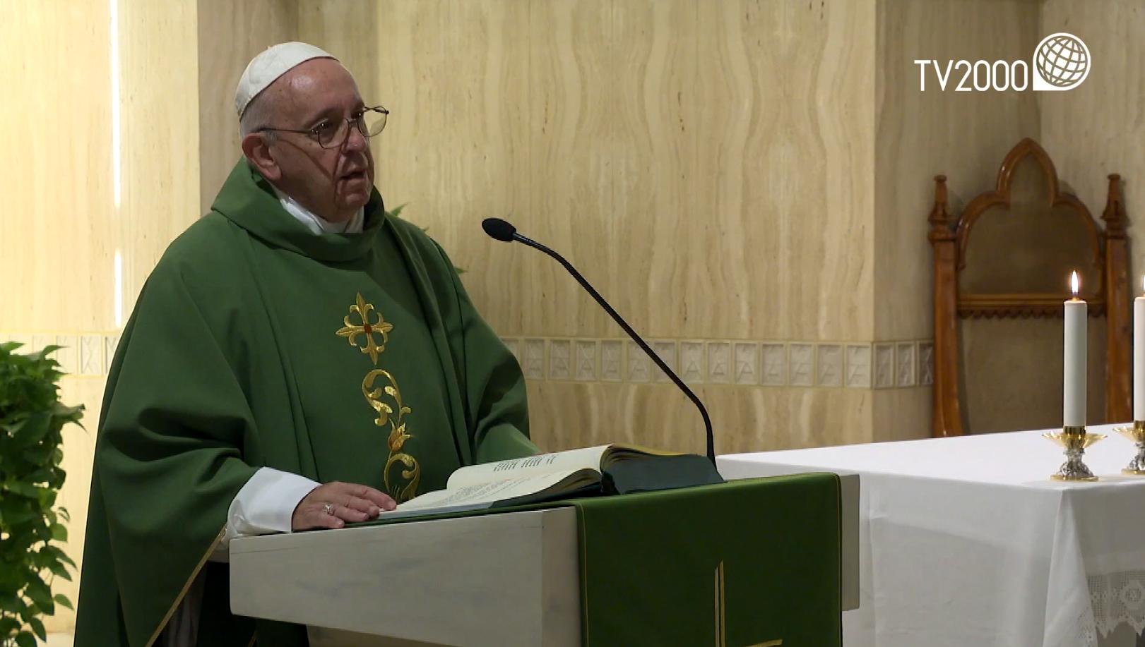 "Papa Francesco, omelia a Santa Marta 31.10.2019: ""Dio ama con tenerezza"""