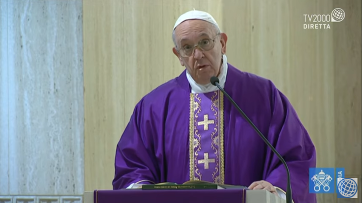 Papa Francesco, omelia a Santa Marta del 21 marzo 2020