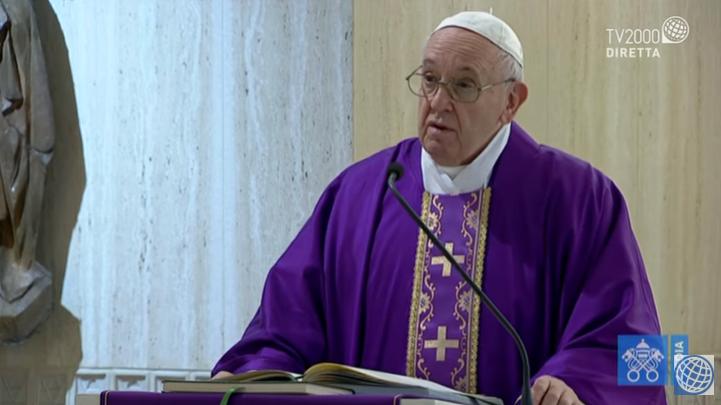 Papa Francesco, omelia a Santa Marta del 23 marzo 2020