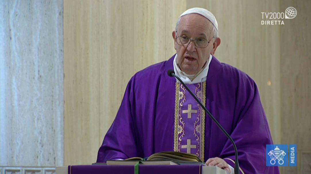 Papa Francesco, omelia a Santa Marta del 24 marzo 2020