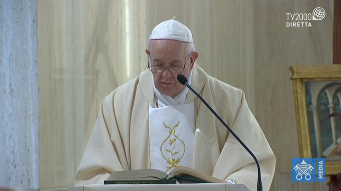 Papa Francesco, omelia a Santa Marta del 25 marzo 2020