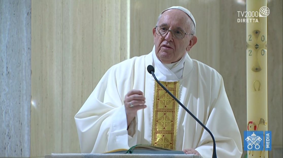 Papa Francesco, omelia a Santa Marta del 18 aprile 2020
