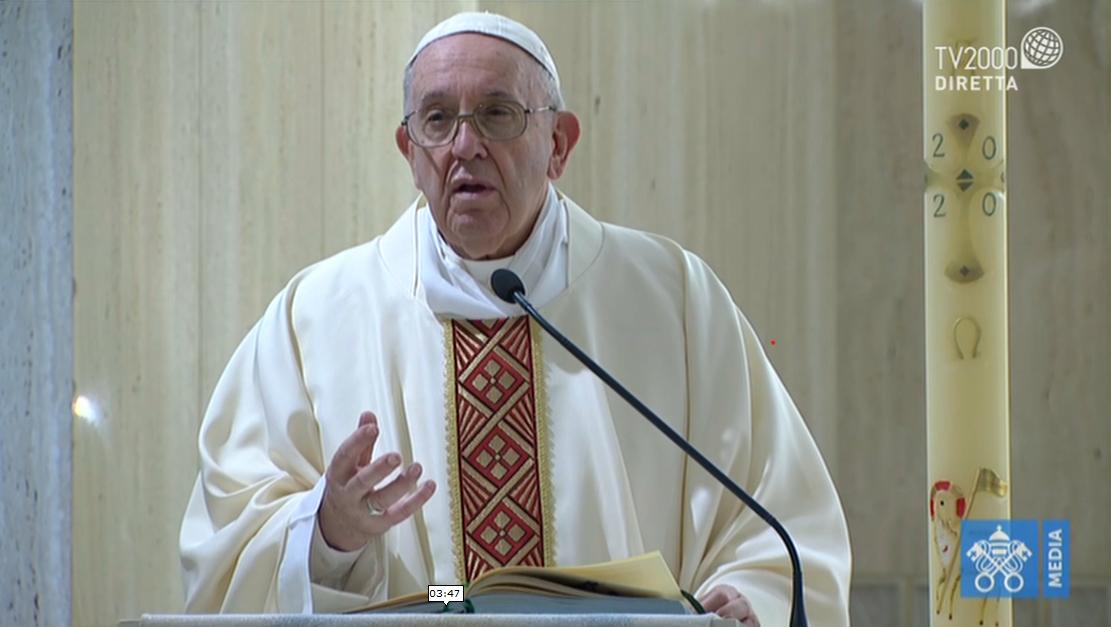 Papa Francesco, omelia a Santa Marta del 20 aprile 2020