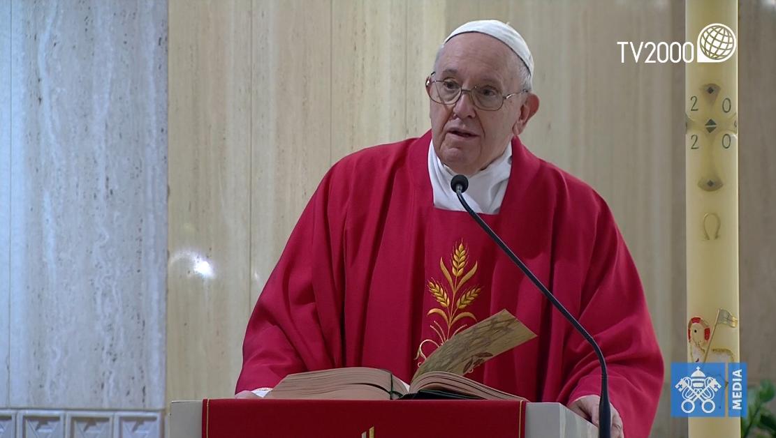 Papa Francesco, omelia a Santa Marta del 25 aprile 2020