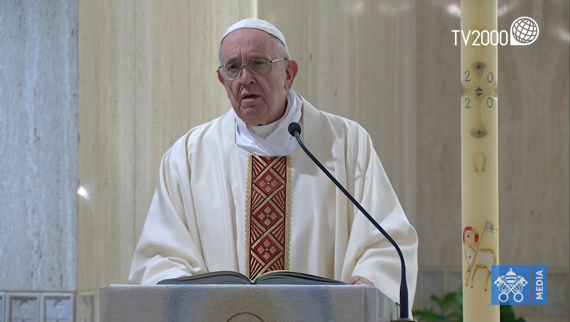 Papa Francesco, omelia a Santa Marta del 26 aprile 2020