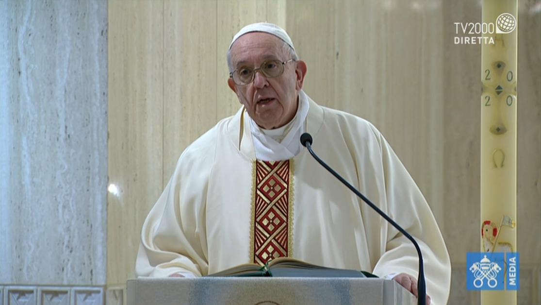 Papa Francesco, omelia a Santa Marta del 5 maggio 2020
