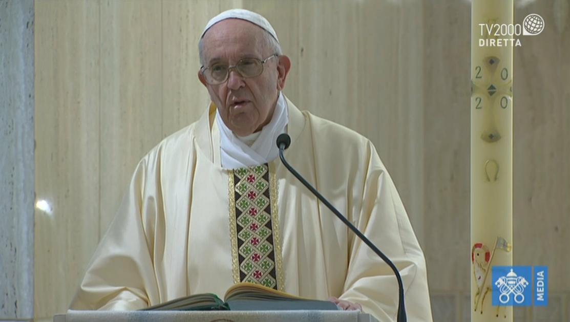 Papa Francesco, omelia a Santa Marta del 8 maggio 2020