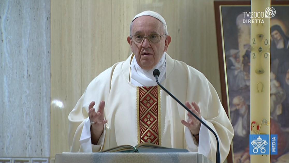 Papa Francesco, omelia a Santa Marta del 9 maggio 2020