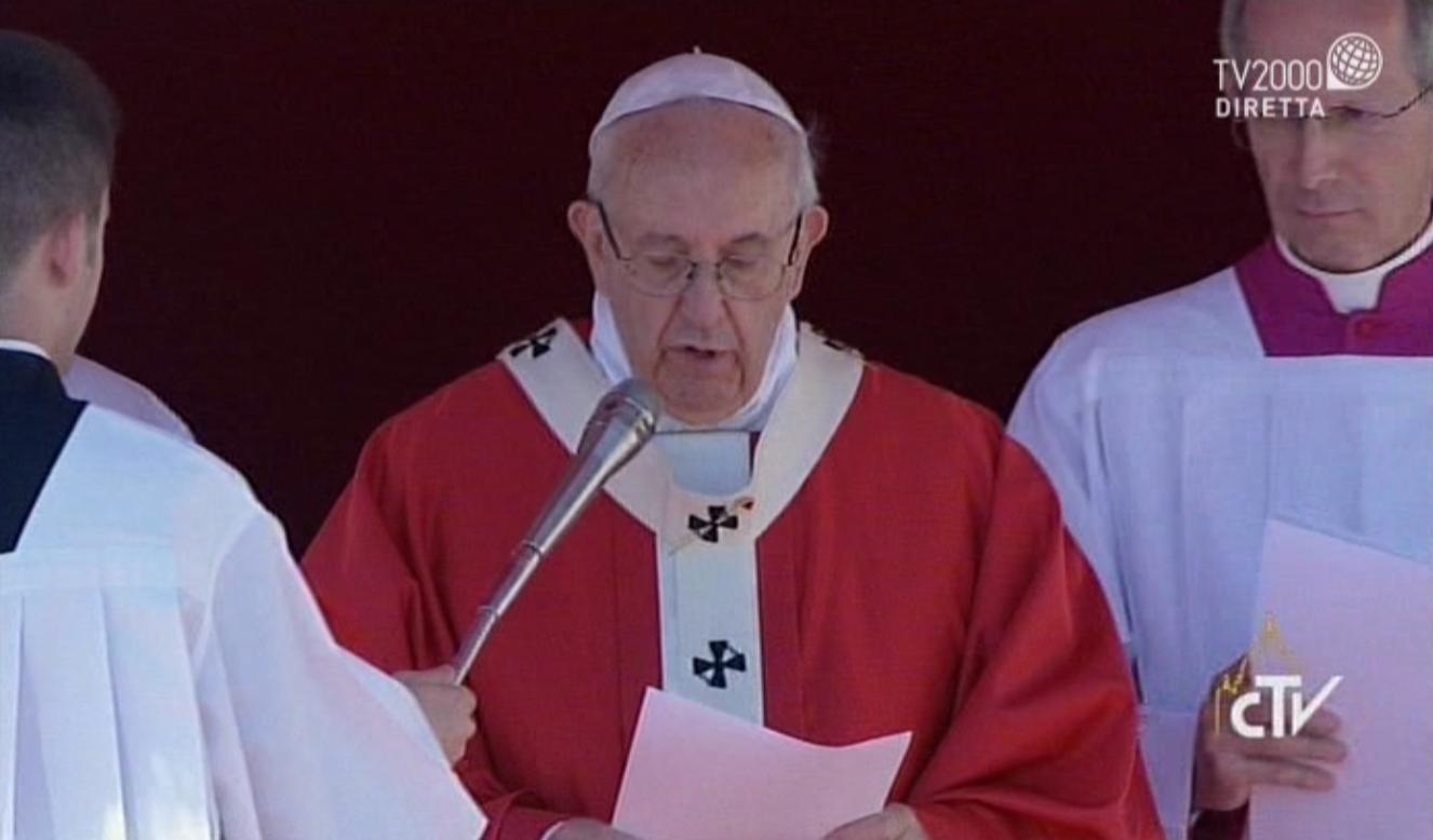 Angelus di Papa Francesco nella Domenica delle Palme. San Pietro, 9 aprile 2017