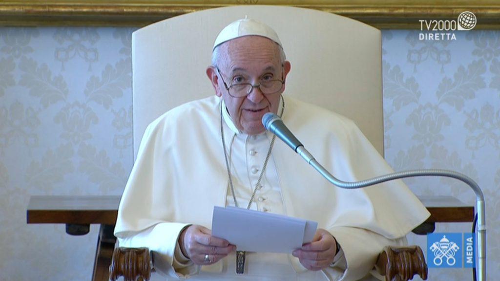 Papa Francesco, Udienza generale del 18 marzo 2020