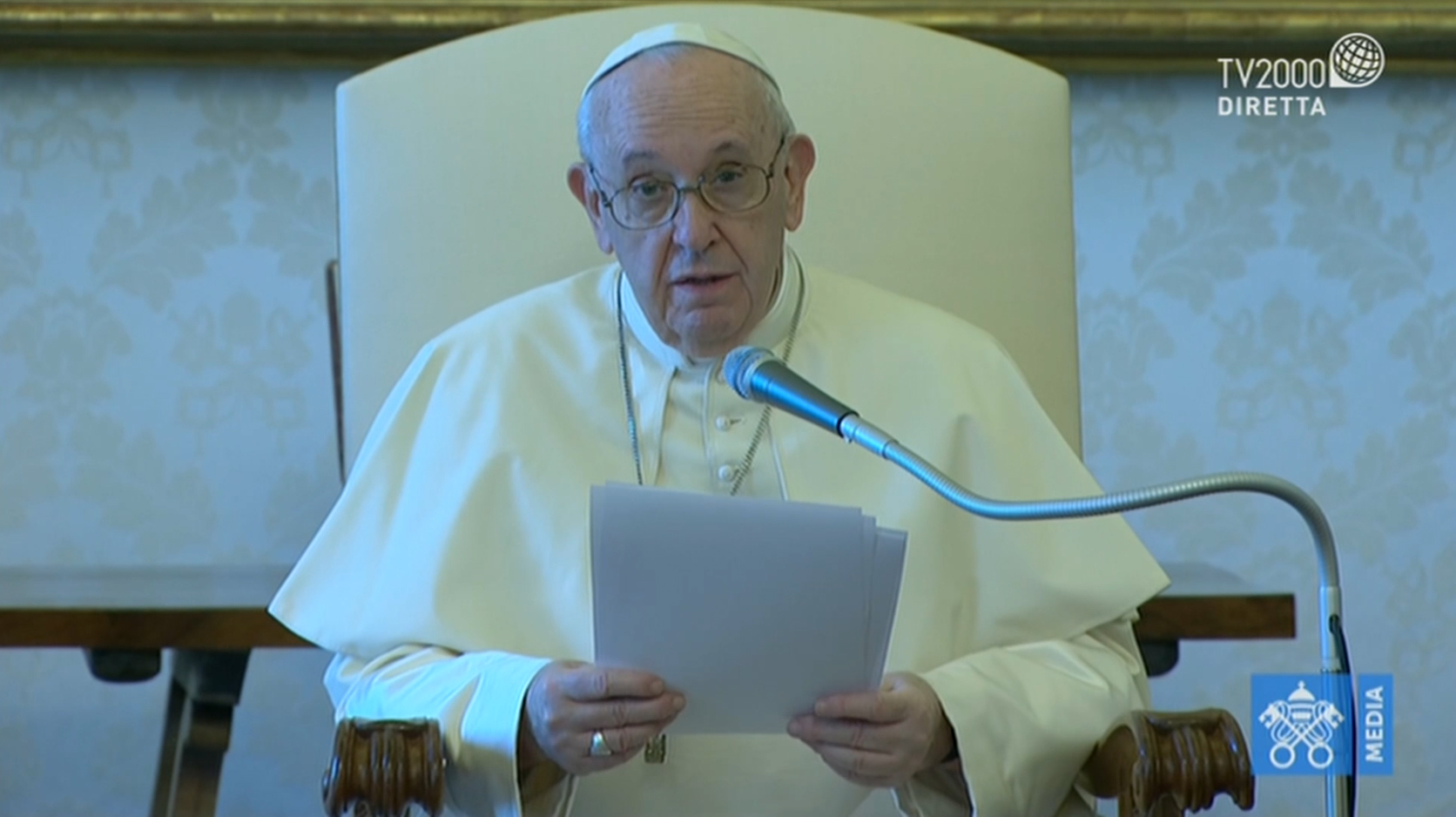 Papa Francesco, Udienza Generale del 12 agosto 2020