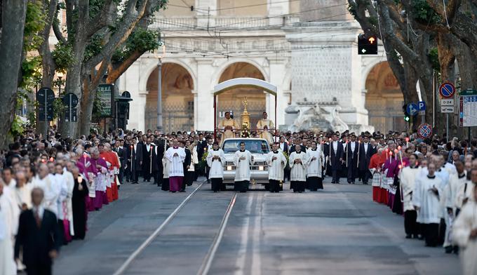 Santa Messa e Processione Eucaristica, Piazza San Giovanni in Laterano