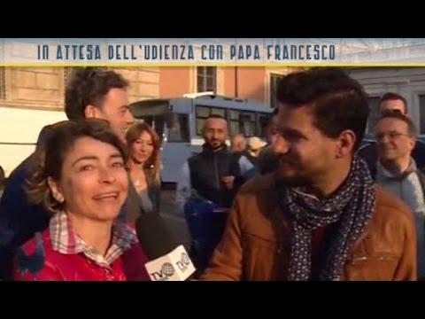 I pellegrini di Verona in attesa dell'Udienza del Papa