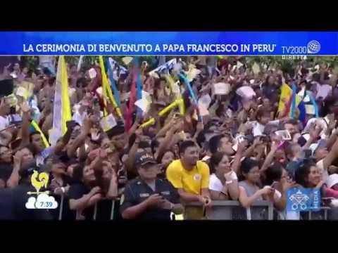 La cerimonia di benvenuto a Papa Francesco in Perù