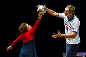 Teatro: Andrea Zorzi, il pallavolista volante