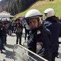 Demonstration in Brenner border line from Italian part