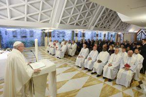Pope Francis Mass in Santa Marta