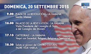 Viaggio Papa Francesco 20 settembre