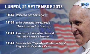 Viaggio Papa Francesco 21 settembre