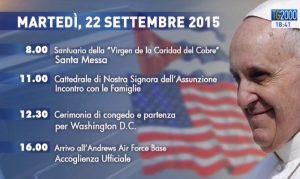 Viaggio Papa Francesco 22 settembre
