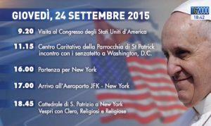 Viaggio Papa Francesco 24 settembre