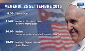 Viaggio Papa Francesco 25 settembre