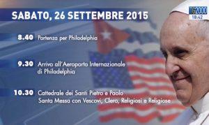 Viaggio Papa Francesco 26 settembre