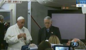 La conferenza stampa di Papa Francesco al ritorno del viaggi a Cuba e Usa