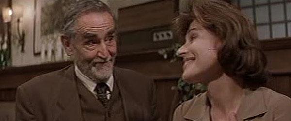 """Vittorio Gassmann e Fanny Ardant ne """"La cena"""" di Ettore Scola"""