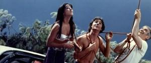 """Una scena del film """"Aggrappato a un albero.."""" con Luis De Funes"""