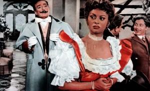 "Totò e Sophia Loren in ""Miseria e nobiltà"""