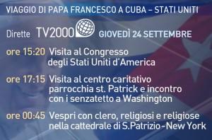 appuntamenti Papa Francesco