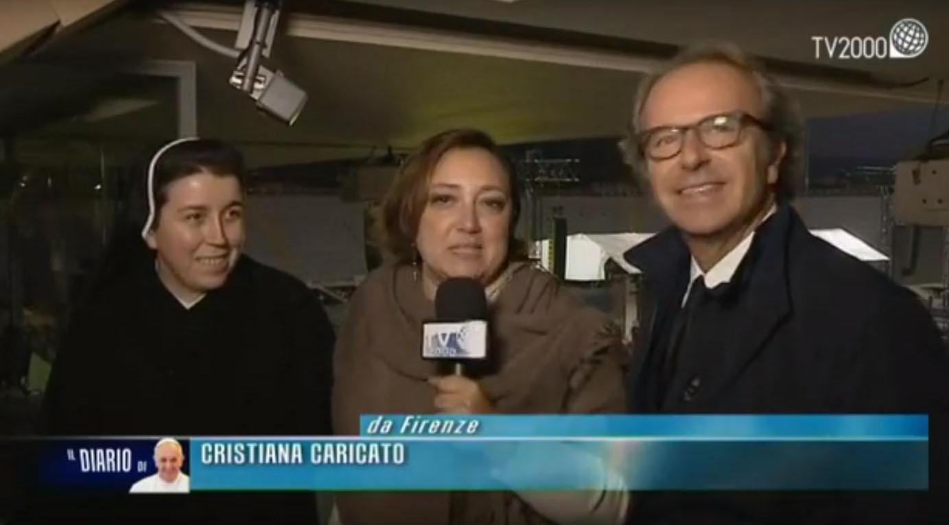 Firenze2015, l'intervista al presidente della Fiorentina Andrea Della Valle e a suor Daniela, tifosa viola