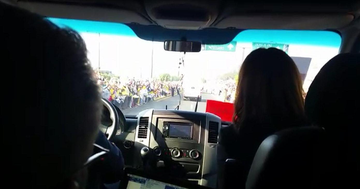 ...di corsa verso lo stadio José Marìa Morelos y Pavòn per l'incontro tra i giovani (VIDEO)