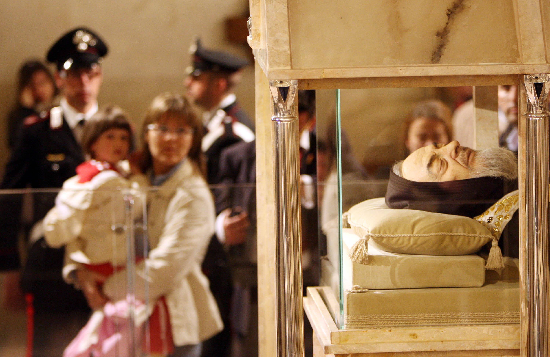 La traslazione delle reliquie di San Pio