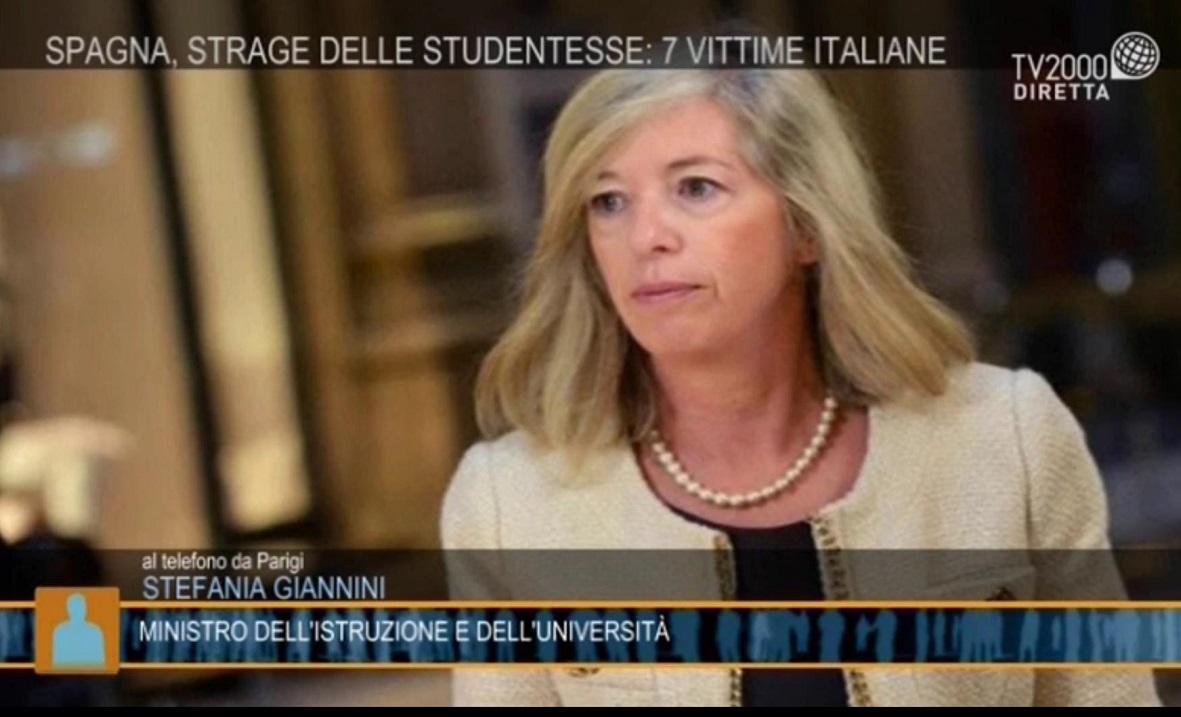 Ministro Istruzione Stefania Giannini