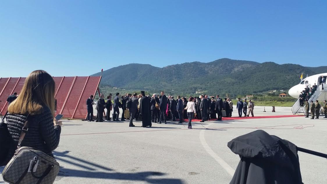 L'arrivo a Mitilini.