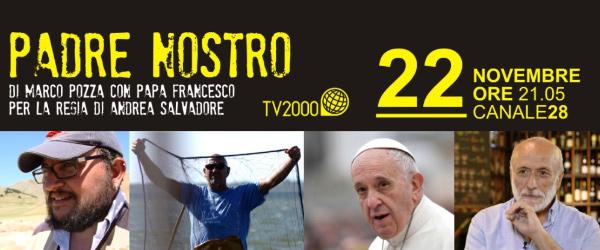 Padre Nostro con don Marco Pozza. Mercoledì 22 novembre alle 21:05 su Tv2000, canale 28 del digitale terrestre.