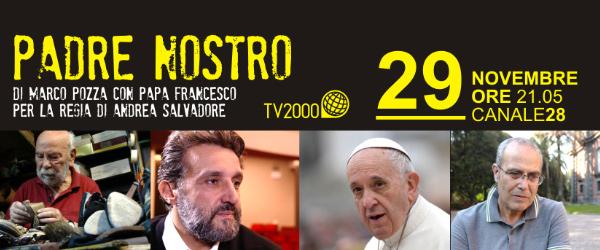 Padre Nostro. Mercoledì 29 novembre alle 21.05 su Tv2000. Don Marco Pozza conversa con l'attore Flavio Insinna