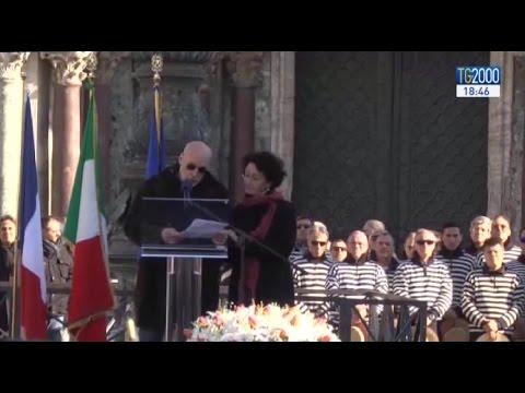 L'ultimo saluto di Venezia a Valeria Solesin, simbolo di un comune impegno per la pace